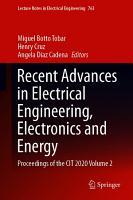 Recent Advances in Electrical Engineering  Electronics and Energy PDF