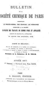 Bulletin de la Société chimique de Paris: Volume27