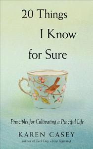 20 Things I Know for Sure Book