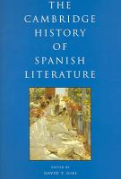 The Cambridge History of Spanish Literature PDF