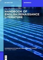 Handbook of English Renaissance Literature PDF