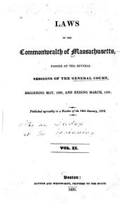 Laws of the Commonwealth of Massachusetts: Volume 11
