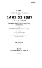 Essai historique, philosophique et pittoresque sur les Danses des morts: Volume1