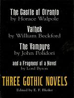 Three Gothic Novels PDF