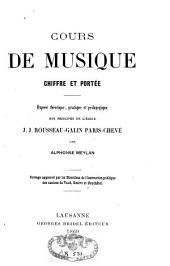 Cours de musique: chiffre et portée ; La théorie musicale : chiffre et portée, Volume2