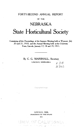 Annual Report of the Nebraska State Horticultural Society for the Year ...: Containing the Proceedings of the Annual and Semiannual Meetings Held During the Year