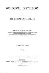 Zoological Mythology: Or, The Legends of Animals, Volume 2