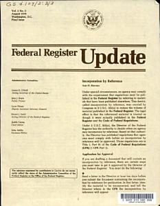 Federal register update PDF