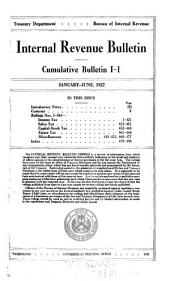 Internal Revenue Bulletin: Cumulative bulletin, Volumes 1-2