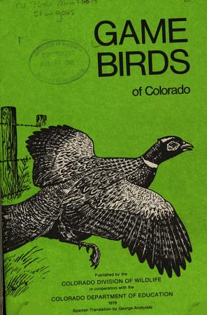 Game Birds of Colorado PDF