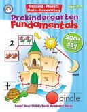 Prekindergarten Fundamentals  Grade Pk PDF