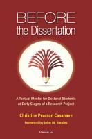 Before the Dissertation PDF