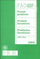 Yearbook of Forest Products  1983 1994 PDF
