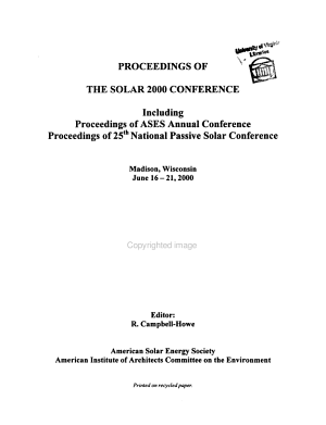 Proceedings of the     American Solar Energy Society Annual Conference PDF