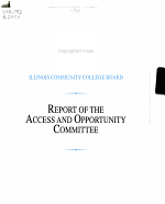 Report of the Access and Opportunity Committee PDF