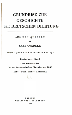 Grundrisz zur Geschichte der deutschen Dichtung aus den Quellen  Bd  Vom Weltfrieden bis zur Franz  sischen Revolution 1830 PDF