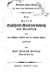 Horazens zweite Epode. In einem freieu Sylbenmasse übersetzt ... von K. H. Jördens