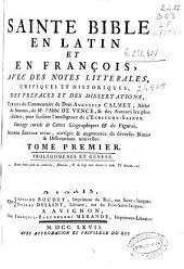 Sainte Bible: en latin et en françois : avec des notes litterales, critiques et historiques
