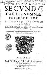 Summa philosophiae ex variis libris D. Thomae Aquinatis...