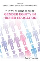 The Wiley Handbook of Gender Equity in Higher Education PDF