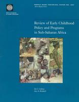 Review of Early Childhood Policy and Programs in Sub Saharan Africa PDF