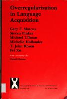 Overregularization in Language Acquisition PDF