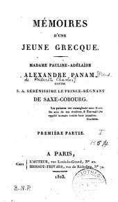 Mémoires d'une jeune Grecque, Madame Pauline-Adélaïde Alexandre Panam contre S.A.... le prince-régnant de Saxe-Cobourg
