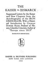 The Kaiser Vs  Bismarck PDF