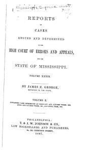 Mississippi Reports: Volume 39