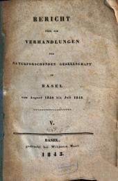 Bericht über die Verhandlungen der Naturforschenden Gesellschaft in Basel: Band 5