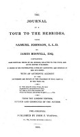 The Journal of a Tour to the Hebrides with Samuel Johnson     from the London Edition  Revised and Corrected by the Author   American Edition    PDF