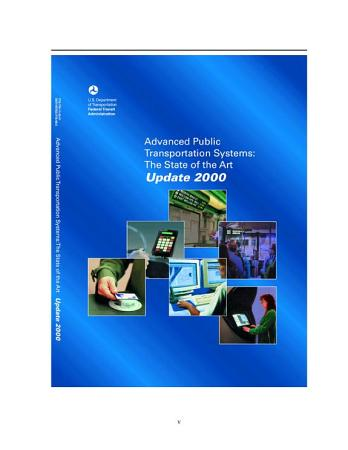Advanced public transportation systems   the state of the art   update 2000 PDF