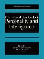 International Handbook of Personality and Intelligence PDF