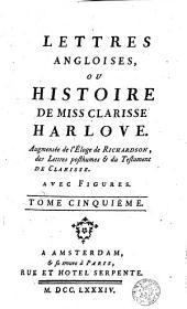Lettres angloises ou l'histoire de Miss Clarissa Harlove: Volume5
