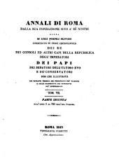 Annali di Roma, dalla sua fondazione sino a' di' nostri: Parte secunda, dall'anno 1 al 752 dell' era volgare