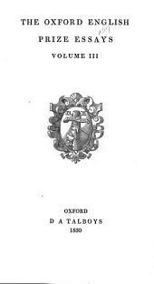 The Oxford English Prize Essays: Volume 3