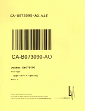 California. Court of Appeal (2nd Appellate District). Records and Briefs: B073090, Appellant's Opening