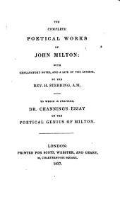 The Complete Poetical Works of John Milton