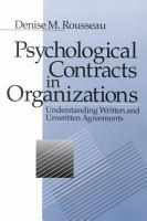 Psychological Contracts in Organizations PDF