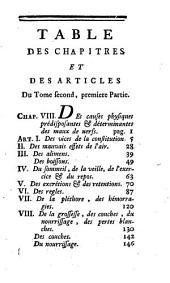 Traité Des Nerfs Et De Leurs Maladies: Tome ..., Contenant Le Traité Des Nerfs, Et De Leurs Maladies, Volume2,Numéro1