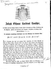 """""""Der"""" gesammten ehrwürdigen Geistlichkeit und allen Gläubigen der Erzdiöcese Wien Heil und Segen vom Herrn! Am 2. December sind fünf und zwanzig Jahre abgelaufen..."""