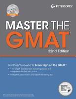 Master the GMAT  22nd edition PDF