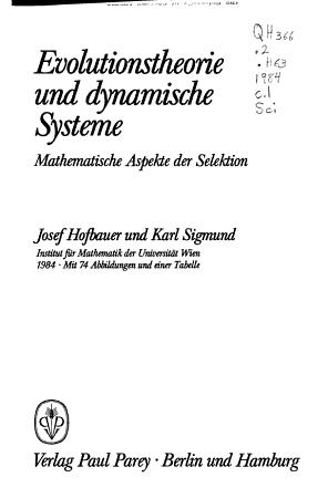 Evolutionstheorie und dynamische Systeme PDF