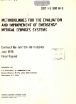 Methodologies for the Evaluation and Improvement of Emergency Medical Services Systems