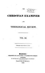 The Christian Examiner: Volume 3