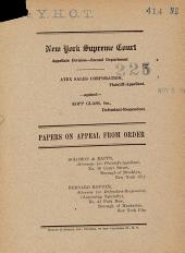 New York Supreme Court Papers on Appeal from Order