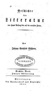 Geschichte der theologischen wissenschaften seit der verbreitung der alten litteratur: Band 2