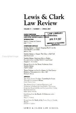 Lewis   Clark Law Review PDF