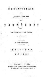 Verhandlungen der Zweiten Kammer der Landstände des Großherzogthums Hessen: 1829/30,2,[a] (1829)