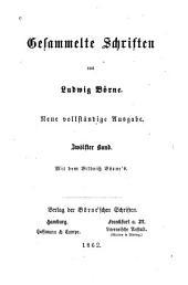 bd. Briefe aus Paris. Aus Börne's Leben (von dr. Reinganum)